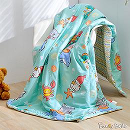 義大利Fancy Belle X DreamfulCat《海底樂悠游》純棉涼被(5x6.5尺)