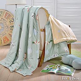 義大利Fancy Belle《來趣動物園》純棉抗菌涼被(5x6.5尺)