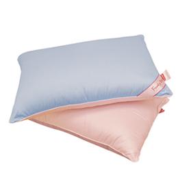 義大利Fancy Belle《漾彩雙色竹炭枕》水藍/粉紅一入