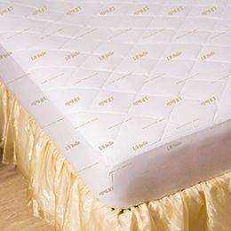 義大利La Belle 雙人防蹣抗菌包覆式保潔墊-經典純色