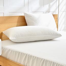 義大利La Belle 簡約素雅 天絲防蹣抗菌透氣防水信封式保潔枕套-2入
