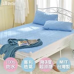 義大利La Belle《粉漾素色》雙人涼感抑菌防水平面式保潔墊