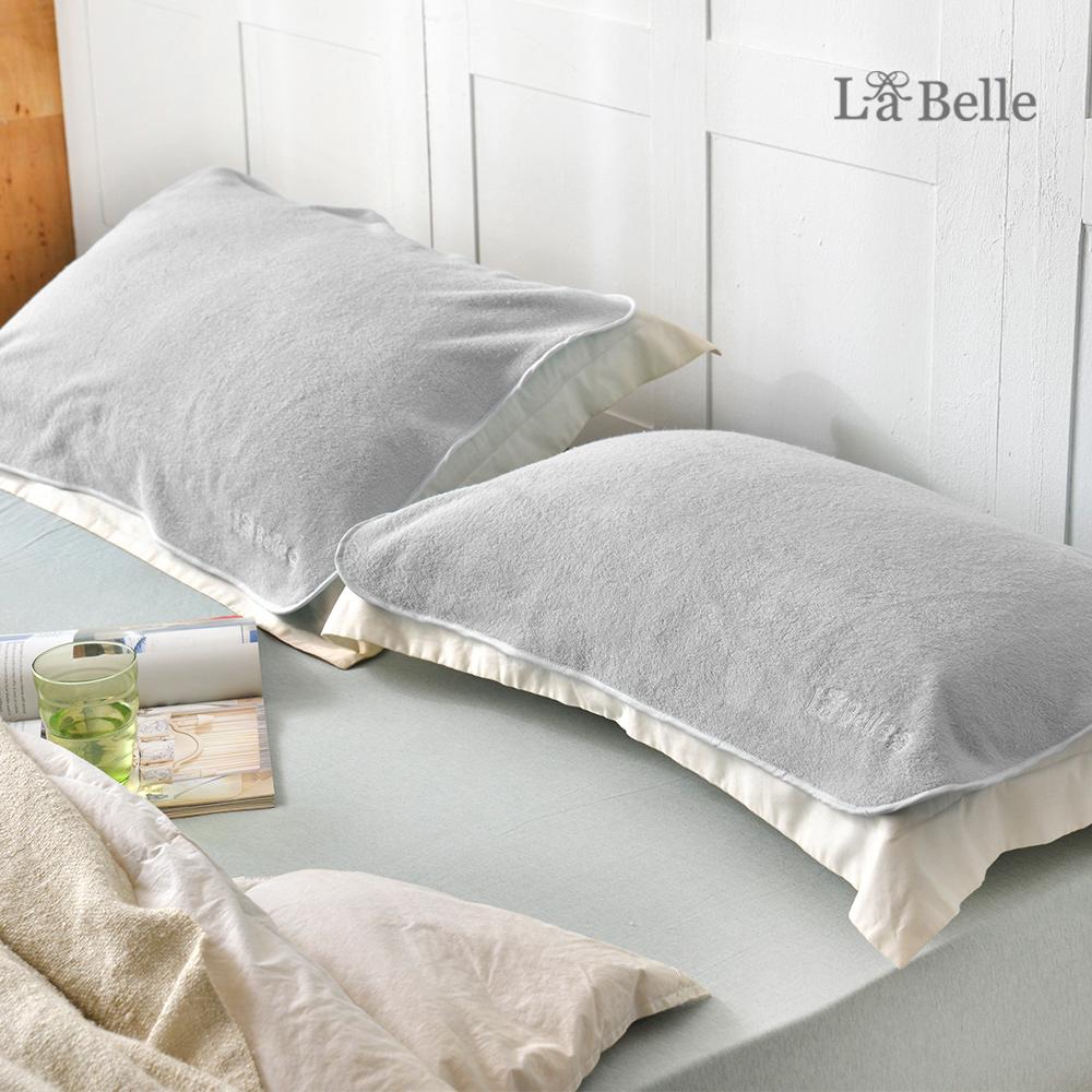 義大利La Belle《經典刺繡》舒柔枕巾2入