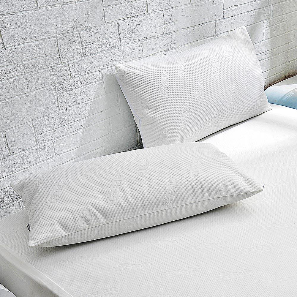 義大利La Belle《時尚典藏》防蹣抗菌透氣防水信封式保潔枕套-2入