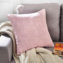 義大利La Belle 簡約風格棉麻抱枕45*45cm-粉紅