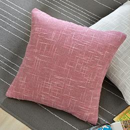 義大利La Belle 簡約風格棉麻抱枕45*45cm-玫紅