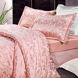 La Belle《瑰麗愛情海》雙人緹花四件式被套床包組