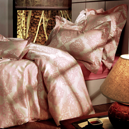 La Belle《歐典風情》雙人四件式 緹花被套床包組
