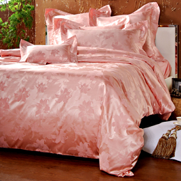 義大利La Belle《百年好合》特大緹花四件被套床包組