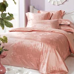 義大利La Belle《柔漾戀曲》加大緹花四件式被套床包組