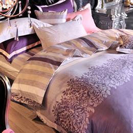 義大利La Belle《香榭大道》雙人四件式長絨棉兩用被床包組