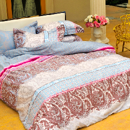義大利La Belle《極光之影》加大四件式貢緞被套床包組