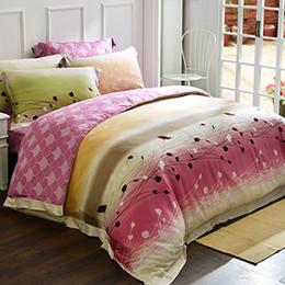 (絕版品出清)義大利La Belle《幸福愛戀》雙人天絲四件式被套床包組