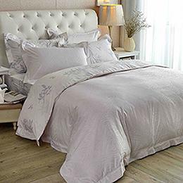 義大利La Belle 雙人天竹緹印花防蹣抗菌舖棉兩用被床包組-復刻花漾