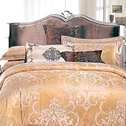 義大利La Belle《奧斯凡賽》加大緹花四件式被套床包組