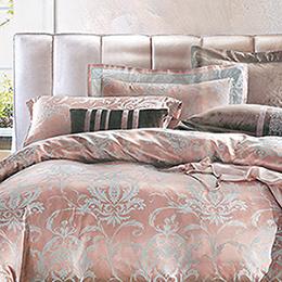 義大利La Belle《芙尼蒂兒》加大緹花四件式被套床包組