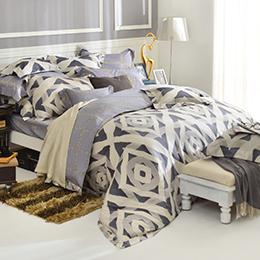 義大利La Belle 雙人天絲防蹣抗菌舖棉兩用被床包組-蒙里西