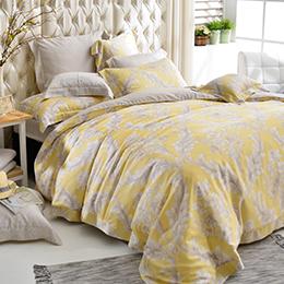 義大利La Belle 雙人天絲防蹣抗菌吸濕排汗兩用被床包組-皇室香榭
