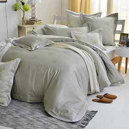 義大利La Belle 雙人天竹緹防蹣抗菌吸濕排汗兩用被床包組-悠然光年