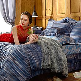 義大利La Belle 雙人天絲防蹣抗菌吸濕排汗兩用被床包組-光曜旅人