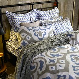 義大利La Belle 加大天絲防蹣抗菌吸濕排汗兩用被床包組-羅馬印象