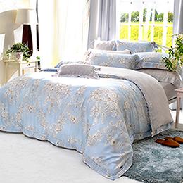義大利La Belle《芙娜利塔》雙人天絲四件式防蹣抗菌吸濕排汗兩用被床包組