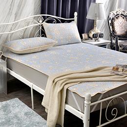義大利La Belle《水漾花園》加大透氣涼感紗乳膠床墊三件組