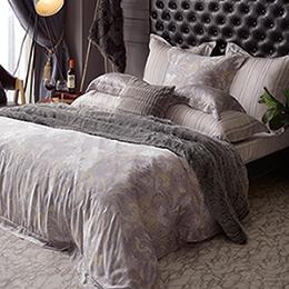義大利La Belle《曼特印象》加大天絲四件式防蹣抗菌吸濕排汗兩用被床包組