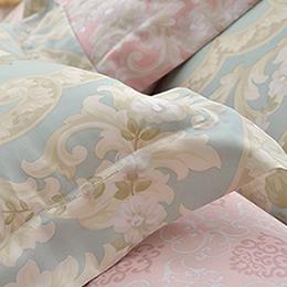 義大利La Belle《莉亞公主》加大天絲四件式防蹣抗菌吸濕排汗兩用被床包組