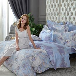 義大利La Belle《漫步花海》特大防蹣抗菌吸濕排汗兩用被床包組