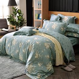 義大利La Belle《如夢香韻》特大天絲四件式防蹣抗菌吸濕排汗兩用被床包組
