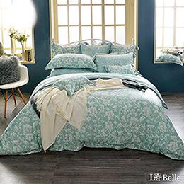 義大利La Belle《微光絕色》特大天絲防蹣抗菌吸濕排汗兩用被床包組