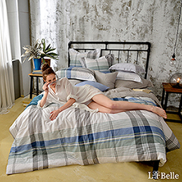 義大利La Belle《自由概念》特大水洗棉防蹣抗菌吸濕排汗兩用被床包組