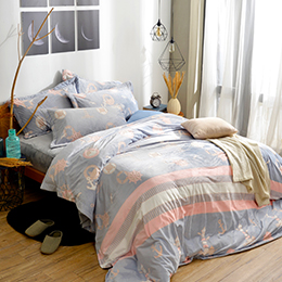 義大利La Belle《夢想航行》特大立體雪雕絨防蹣抗菌吸濕排汗被套床包組