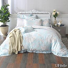 義大利La Belle《冰沁花園》加大天絲防蹣抗菌吸濕排汗兩用被床包組