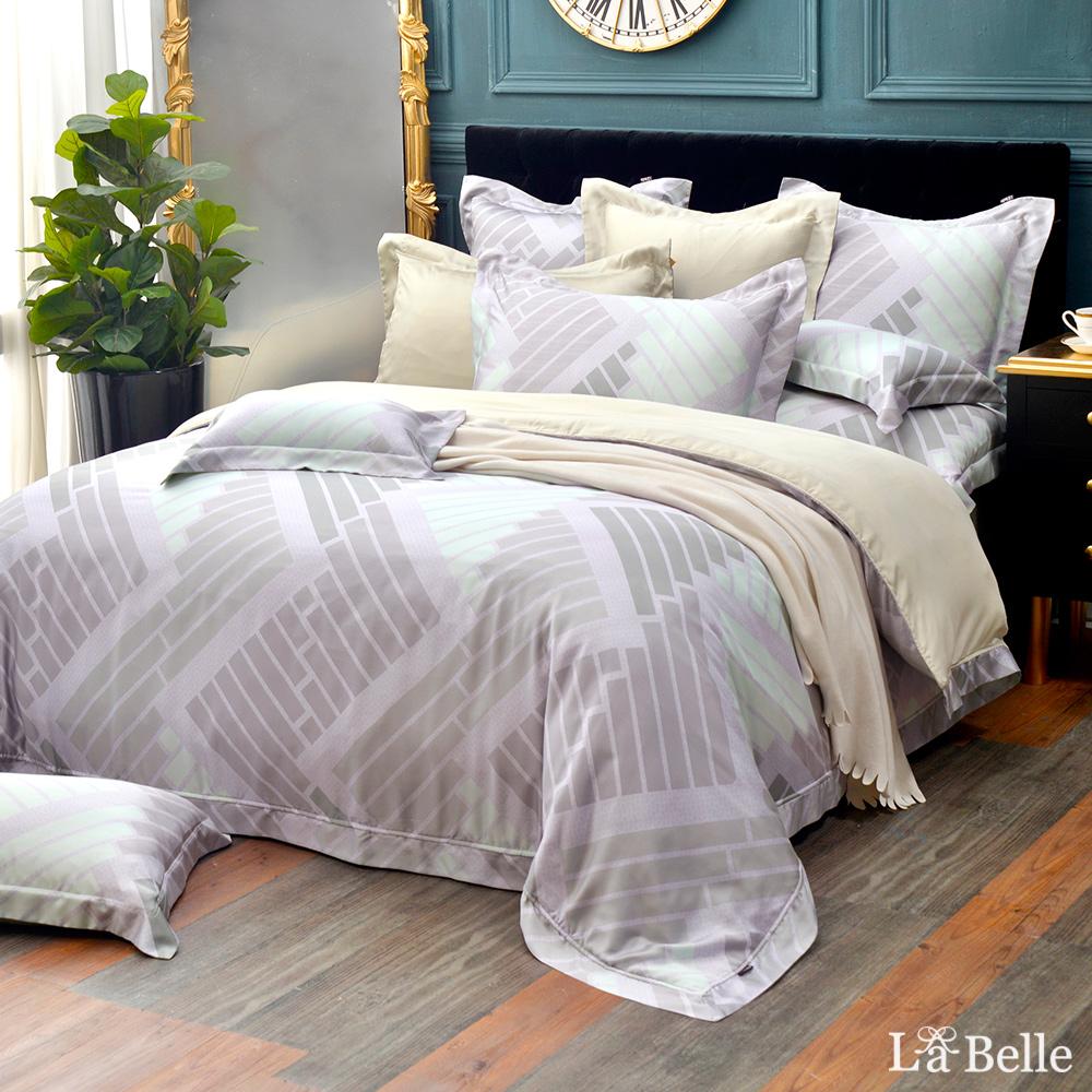 義大利La Belle《絕色光影》特大天絲防蹣抗菌吸濕排汗兩用被床包組
