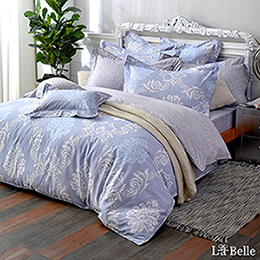 義大利La Belle《雅典風采》單人純棉防蹣抗菌吸濕排汗兩用被床包組