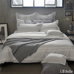 義大利La Belle《北歐之旅》特大純棉防蹣抗菌吸濕排汗兩用被床包組