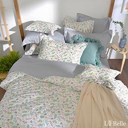 義大利La Belle《芷戀鄉村》雙人純棉防蹣抗菌吸濕排汗兩用被床包組