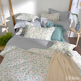 義大利La Belle《芷戀鄉村》特大純棉防蹣抗菌吸濕排汗兩用被床包組