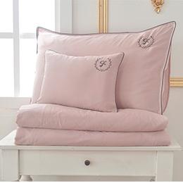 義大利La Belle《爵士典範》雙人天絲滾邊刺繡防蹣抗菌吸濕排汗兩用被床包組