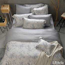 義大利La Belle《悠靜拾光》特大天絲防蹣抗菌吸濕排汗兩用被床包組