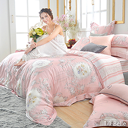 <預購>義大利La Belle《歐典娜》雙人數位天絲防蹣抗菌吸濕排汗兩用被床包組(預計11月底出貨)