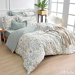義大利La Belle《四季春氛》雙人純棉防蹣抗菌吸濕排汗兩用被床包組