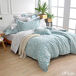 義大利La Belle《香草漫遊》特大純棉防蹣抗菌吸濕排汗兩用被床包組
