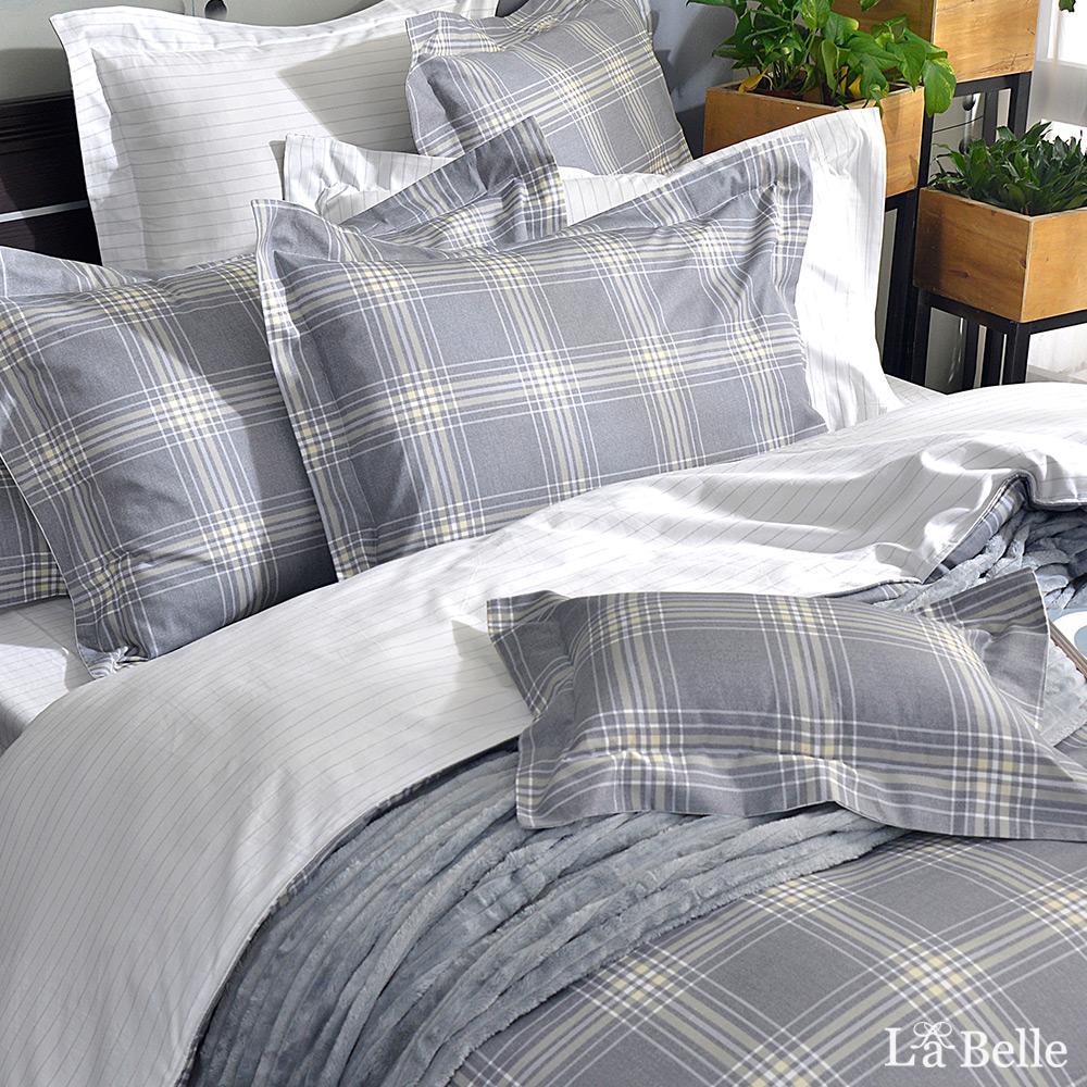 義大利La Belle《時尚態度》特大純棉防蹣抗菌吸濕排汗兩用被床包組