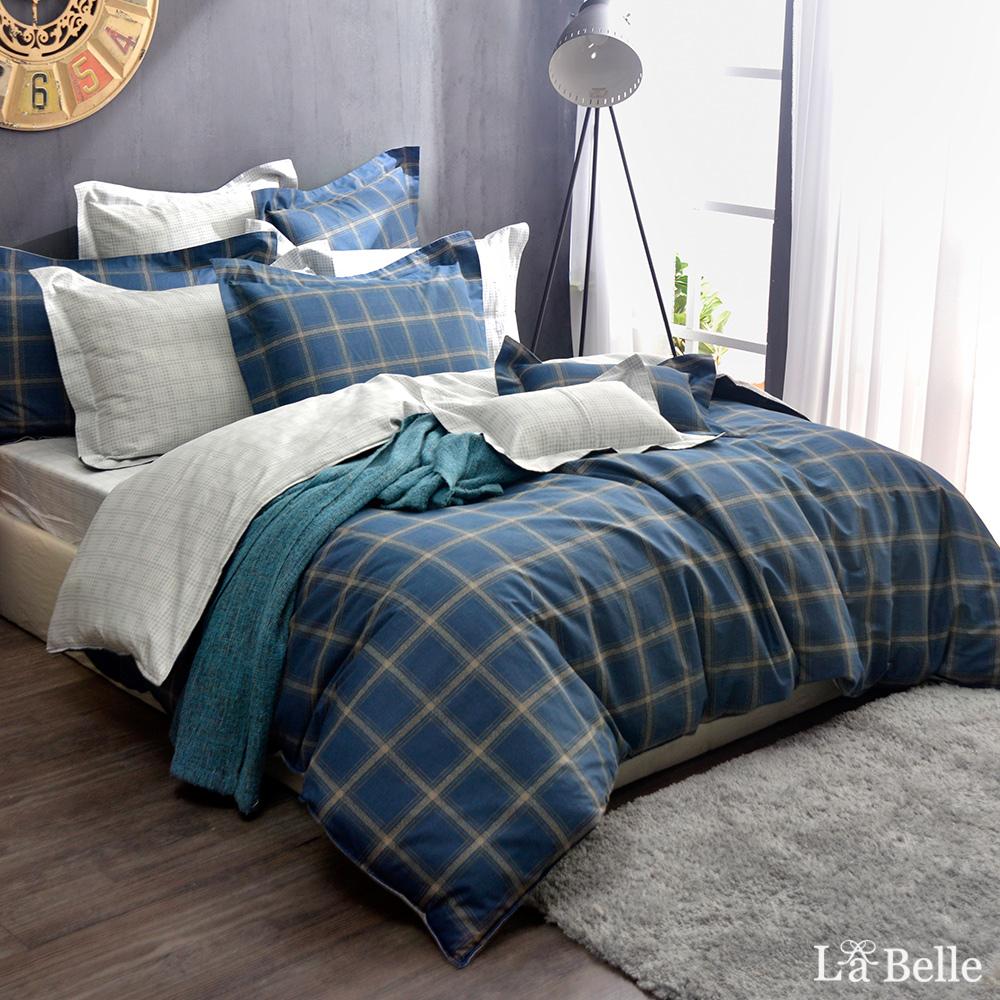 義大利La Belle《品味都市》雙人純棉防蹣抗菌吸濕排汗兩用被床包組