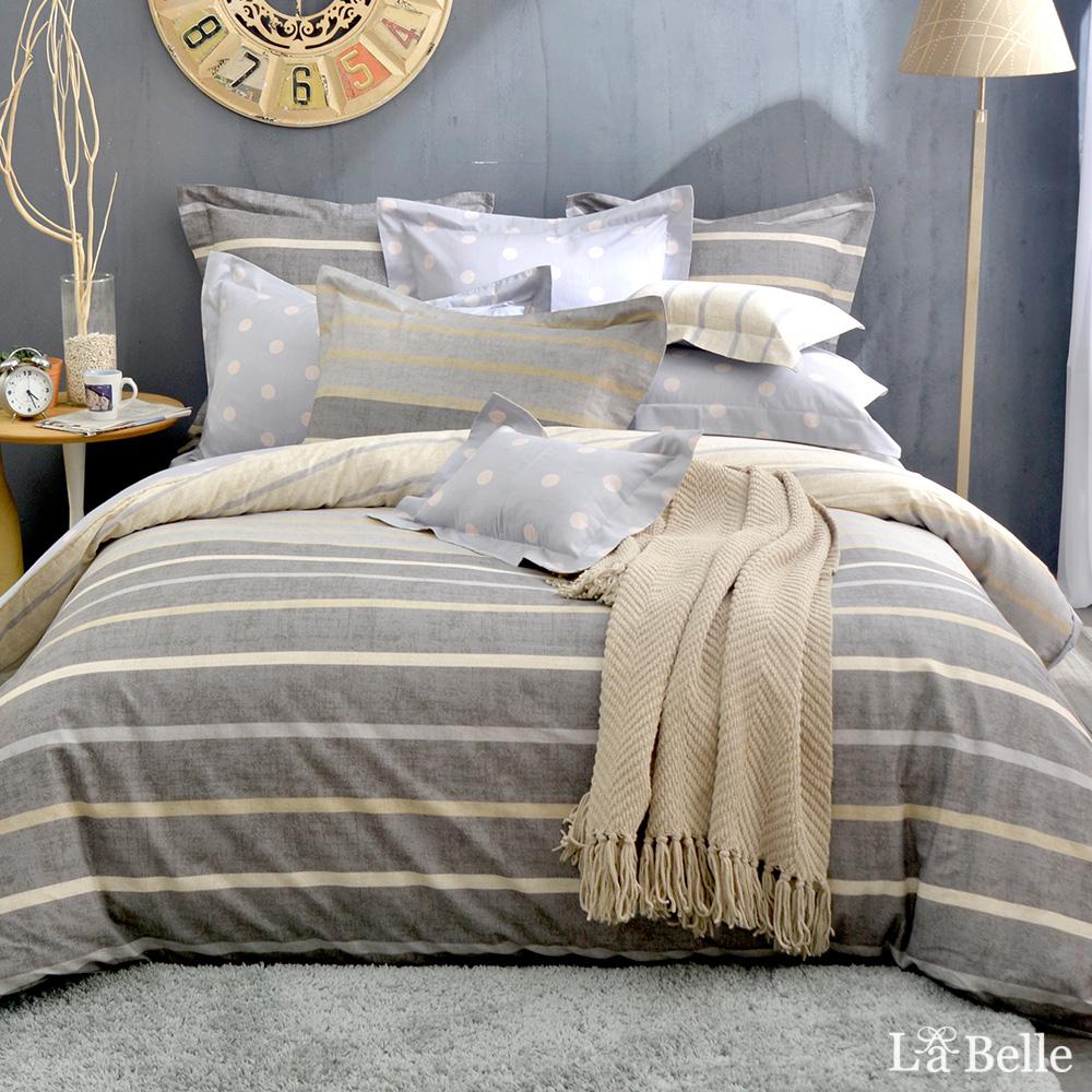 義大利La Belle《紳士戀人》雙人純棉防蹣抗菌吸濕排汗兩用被床包組