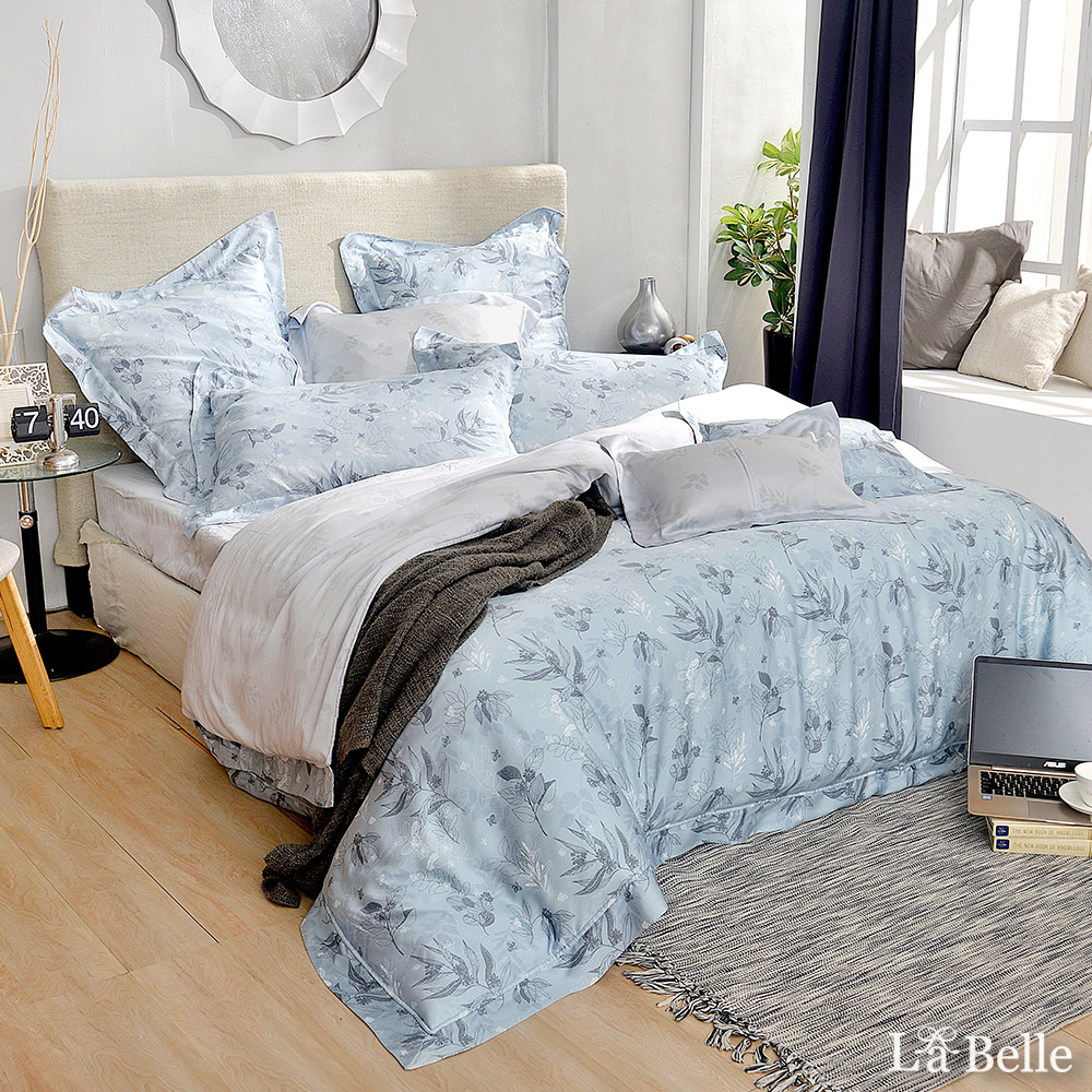 義大利La Belle《傾城之戀》雙人天絲防蹣抗菌吸濕排汗兩用被床包組