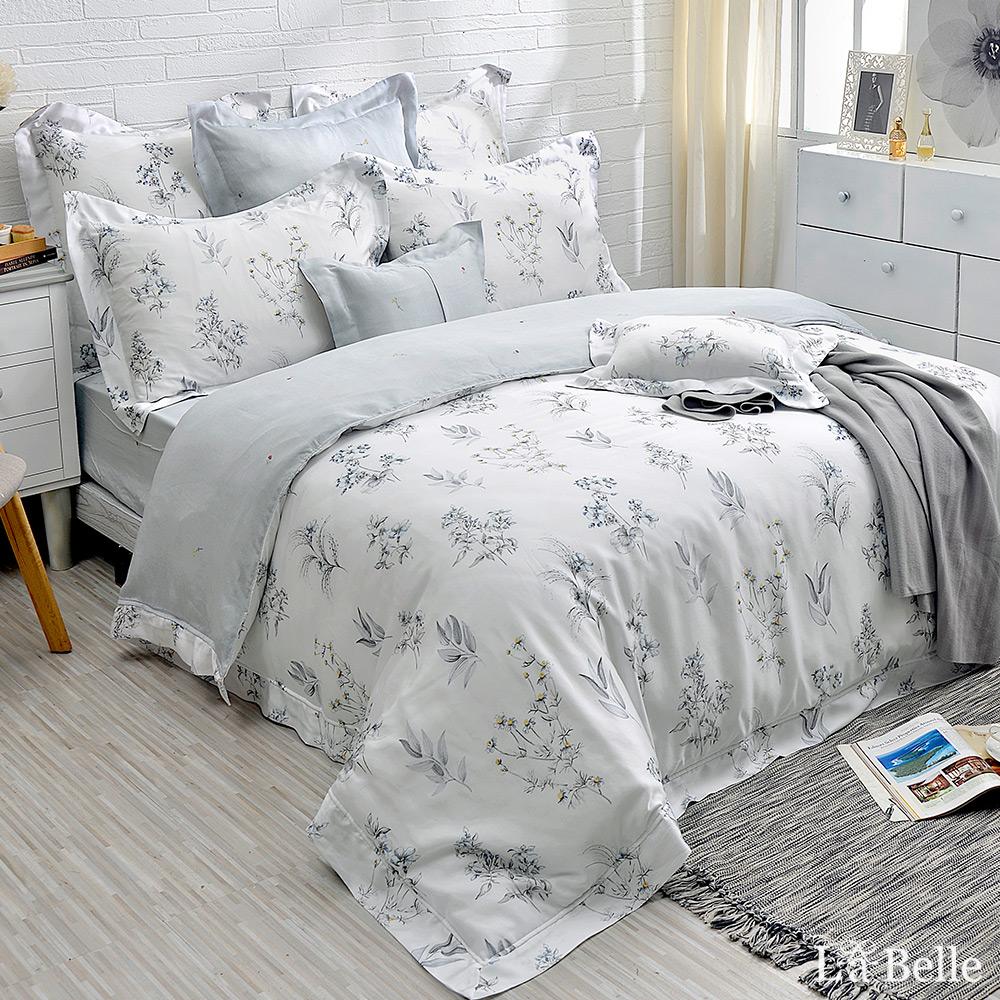 義大利La Belle《光耀之心》特大天絲防蹣抗菌吸濕排汗兩用被床包組